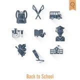 Schule- und Ausbildungsikonen Stockbilder