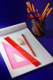 Schule- und Bürozubehör Lizenzfreie Stockbilder