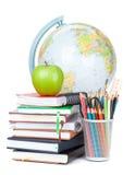 Schule- und Bürozubehöre Stockfotos
