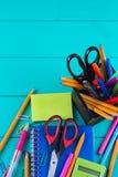 Schule- und Bürozubehöre Stockbild
