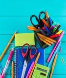 Schule- und Bürozubehöre Lizenzfreie Stockfotos