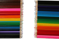 Schule- und Bürozubehöre Vektor-Illustration, eps10, enthält Transparenz Farbige Bleistifte lokalisiert auf Weiß Lizenzfreies Stockfoto