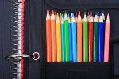 Schule- und Kunstzubehör Stockfotografie