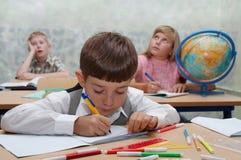 Schule, verschiedene Zeichen Stockfotografie
