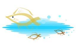 Schule von Goldfish Stockfoto