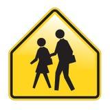 Schule-Warnzeichen Stockfoto