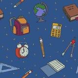 Schule wendet nahtloses Muster ein Lizenzfreie Stockfotos