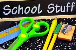 Schule-Zubehör lizenzfreie stockbilder