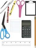 Schule-Zubehör Lizenzfreies Stockfoto