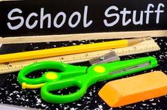 Schule-Zubehör Stockfoto