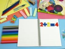 Schuleausrüstung Stockbilder