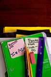 Schulebücher, Zubehör Lizenzfreies Stockbild