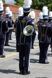 Schuleband an der Parade Stockfotos