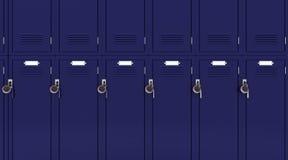 Schulegymnastikschließfach Stockbild