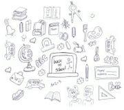 Schuleikonen doddle Lizenzfreie Stockfotos