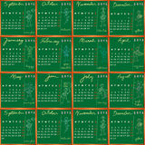 Schulekalender 2012 2013 Lizenzfreies Stockfoto