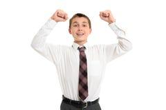 Schulekursteilnehmer-Siegerfolg Stockbilder