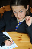 Schulemädchen Stockfotografie