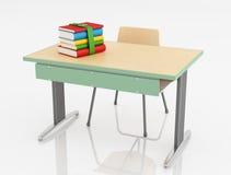 Schuleschreibtisch und -stuhl Stockbilder