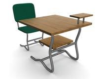 Schuleschreibtisch und -stuhl. Lizenzfreie Stockfotografie