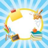 Schulevektorfahnen Lizenzfreie Stockfotos