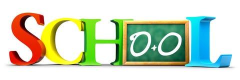 Schulbuchstaben stockfoto