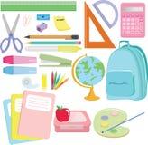 Schulezubehör lizenzfreie abbildung