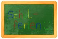 Schulferien färgade ch Arkivfoton