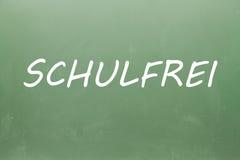 Schulfrei написанное на классн классном Стоковое Изображение