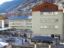 Schulgebäude lagern herein, Andorra Lizenzfreie Stockfotos