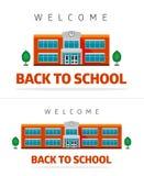 Schulgebäude mit Slogan Lizenzfreie Stockfotografie