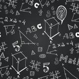 Schulhand gezeichnetes Muster für Ihr Design Lizenzfreies Stockfoto