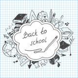 Schulhintergrund des Schulbedarfs Stockfotografie