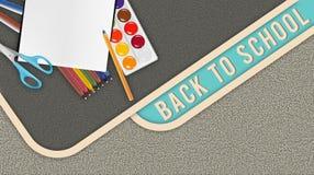 Schulhintergrund mit einer Beschaffenheit für Design, zurück zu Schule stock abbildung
