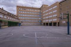 Schulhof ohne Kinder Lizenzfreies Stockbild