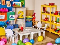 Schulinnenraum mit Farbe und Zeichenstift Lizenzfreies Stockfoto