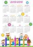 Schulkalender Stockfotos
