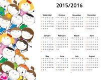 Schulkalender Stockbilder