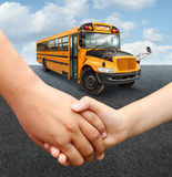 Schulkind-Bus Stockfotos