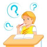 Schulkind im Klassenzimmer vektor abbildung