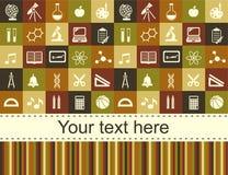 Schulkindhintergrund mit Platz für Text Stockfotografie
