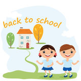 Schulkonzept-Illustrationshintergrund Stockfotografie