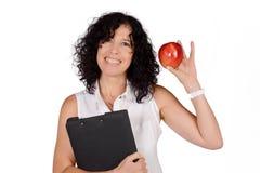 Schullehrer mit einem Apfel Lizenzfreies Stockbild