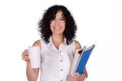 Schullehrer mit Kaffeetasse Stockbilder