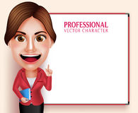 Schullehrer Vector Character Smiling, das Bücher beim Unterrichten von Lektionen hält Lizenzfreies Stockfoto