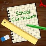 Schullehrplan, der Illustration der Bildungs-Kurs-3d darstellt Stockfoto
