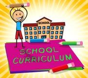 Schullehrplan zeigt Illustration der Bildungs-Kurs-3d an Lizenzfreie Stockfotos
