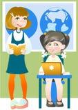 Schulmädchen lizenzfreie abbildung