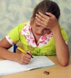 Schulmädchen stockfoto