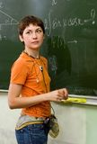 Schulmädchen. Lektion Lizenzfreie Stockfotografie